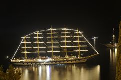 Ship at night Royalty Free Stock Image