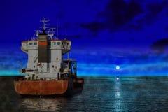 Ship at night Stock Photo