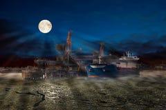 Ship at night Stock Photography