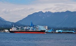 Ship at North Vancouver Stock Photography