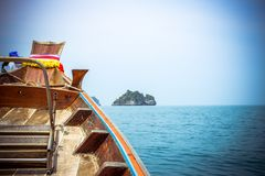 Ship Nose Front View Island in Thailand Stock Images