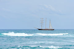 Ship at ocean Royalty Free Stock Photos