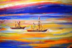 Ship in Ocean Stock Photography