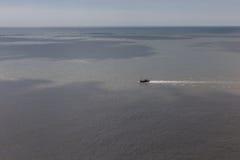 Ship in the ocean Stock Photo