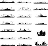 Ship Outline Royalty Free Stock Photo