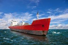 Ship på havet Arkivbild