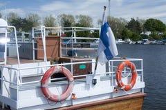 Ship på pir Royaltyfri Bild