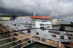 A ship P&Q company waiting passengers Stock Image