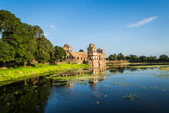 Ship Palace (Jal Mahal) At Mandu India. India, Mandu - Jahaz Mehal/Ship Palace Situated between two artificial lakes, this two storied architectural marvel is so stock photos
