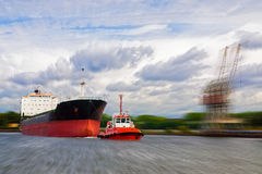 Ship panning Stock Images