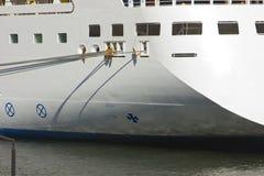 Ship parking at the berth. Passenger Ship, ship parking at the berth.Port Said,Egypt Royalty Free Stock Image