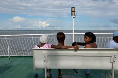Ship passengers stock photography