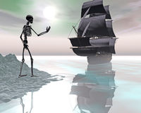 The ship of phantoms Royalty Free Stock Image