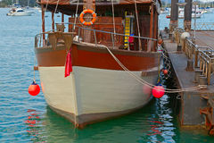 Ship at  pier Stock Photo
