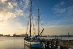 Ship at a pier Stock Image