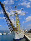 The ship on pier, Tivat Royalty Free Stock Images