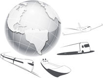 Transportation and Logistics Royalty Free Stock Image