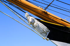 Ship. With plaster featured figurehead at the bay Royalty Free Stock Image