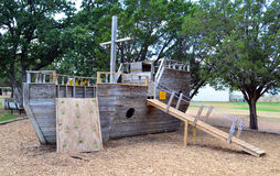 Ship playground. A ship playground at a camp invites kids to play with their imagination Stock Image