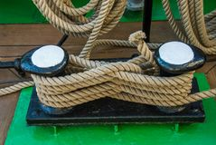 Ship Rigg pollard harness line stock photography