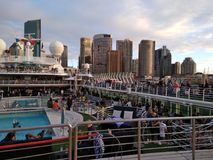 Ship pool travel tour Cruise royalty free stock photography