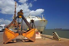 Ship in the port. Of Vila do Conde in Barcarena - Amazonia - North of Brazil royalty free stock image