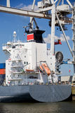 Ship in port. Container ship in port under container lift terminal Royalty Free Stock Photos