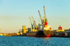 Ship in port Royalty Free Stock Images