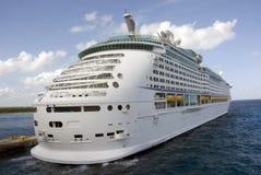 Ship in Port Cozumel Mexico stock photos