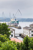 Ship in the port of Ferrol, Galicia, Spain Royalty Free Stock Photos
