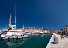 Ship and port at Mali Losinj Royalty Free Stock Image