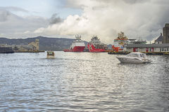 Ship port of Norway Stock Images