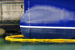 Ship on port refueling Royalty Free Stock Images