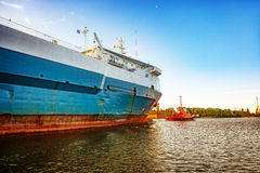 Ship in port Stock Image