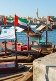 Ship in Port Said in Dubai, UAE. Stock Image