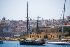 Ship in the port of Valletta Royalty Free Stock Image