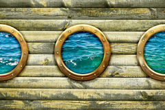 Ship porthole window Stock Photography