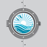 Ship porthole image. Image of ship porthole with glass Stock Photography