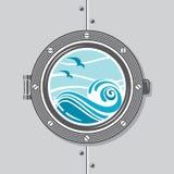 Ship porthole image Royalty Free Stock Photography