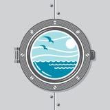 Ship porthole image Stock Photos