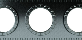 Ship portholes Royalty Free Stock Photography