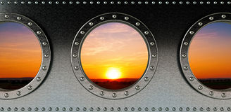Ship portholes Royalty Free Stock Photos
