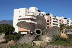 Ship propeller in Estepona, Spain Royalty Free Stock Image