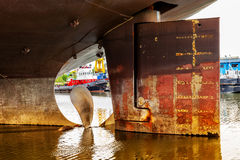 Ship Propeller in water Stock Photography