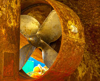 Ship propellers of a marine ship Stock Image