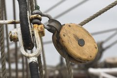 Ship pulley Royalty Free Stock Image
