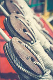 Ship pulleys retro style Royalty Free Stock Image