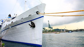 A Ship on Quay Royalty Free Stock Photo