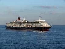 Ship Queen Elizabeth in Livorno harbour Royalty Free Stock Photos