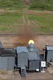 Ship quick-firing cannon Stock Photo